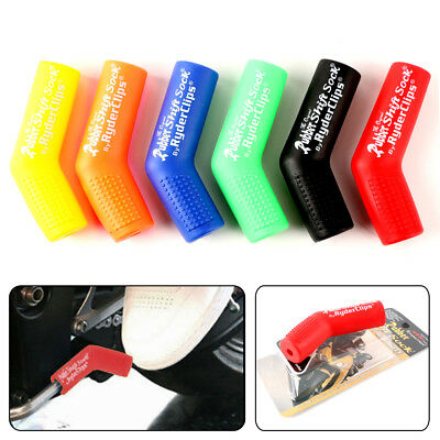 Universal Motorcycle Rubber Shifter Sock Boot Shoe Protector Shift Covers Dual