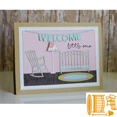 Baby Room Chair Metal Cutting Dies Stencil Scrapbooking Embossing Die-Cut Crafts