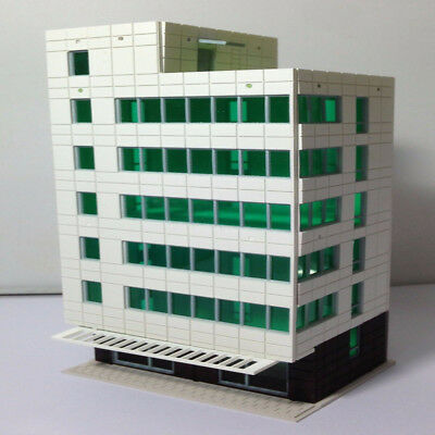 N Scale Outland Models Railway Colored Modern City Business Building Tall Office