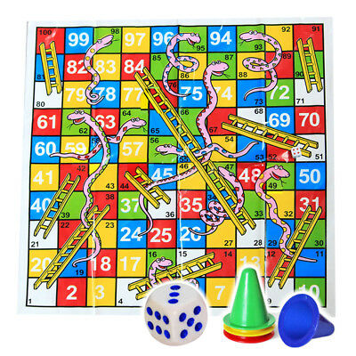 Giant Snakes & Ladders Game Travel Children Traditional Board Ludo Game Toy Gift
