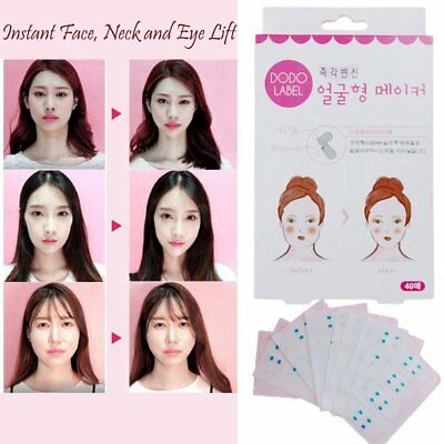 40PCS/SET Lift Face Sticker Face Chin Lift Tools Thin Invisible Medical Tape (I