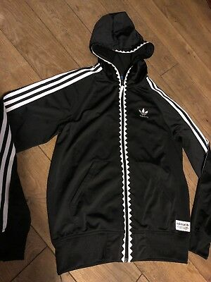 9c49de5c40b2 Vintage ADIDAS ORIGINALS Zip Up Hoodie Jacket   Retro Sport   Size M