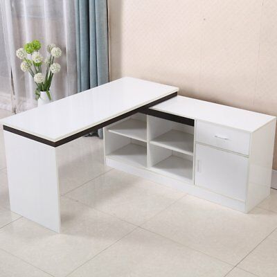 Corner Workstation Desk Table Office Computer Home Study Return SET 145 X 145 cm