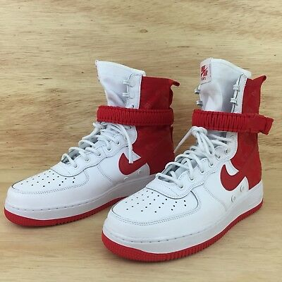 NIKE SF-AF1 High Air Force 1 University Red White Special Forces Size 9.5