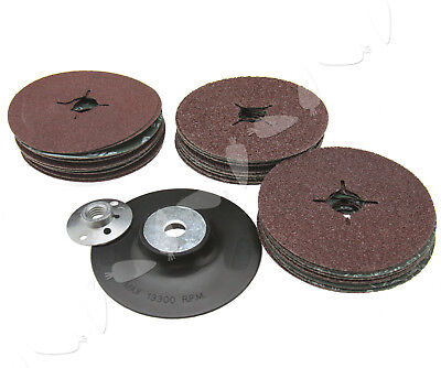 Universel 3 Size 24/36/60 Grit Rubber Backing Pad 115mm Fits Angle Grinder Discs