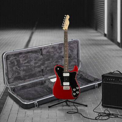 ABS Electric Hardshell Guitar Case Strat/Tele Style with Lock Latch Keys Black
