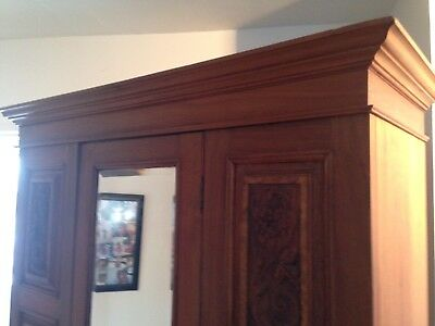 Antique Victorian Burr Walnut Wardrobe