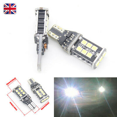 1X/2X T10 T15 W16W Bulbs Led Car Error Free Canbus 15 Smd W5W 501 Side Light