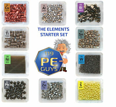 The Elements Starter Set 10 x Periodic Element Tiles Amazing Value High Purity.