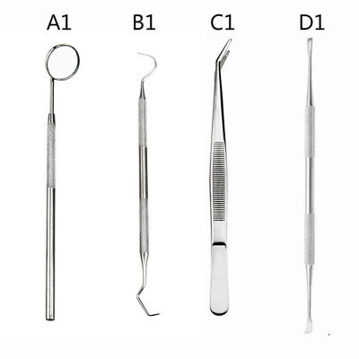 Stainless Steel Dental Set Dentist Teeth Kit Oral Clean Probe Tweezers Tool