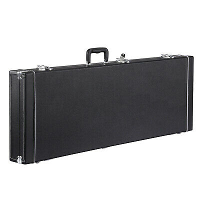 Portable Electric Guitar Case Hard Shell Square Wood for Standard Guitars