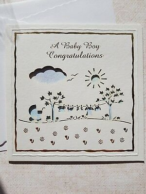 baby boy birth card congratulations