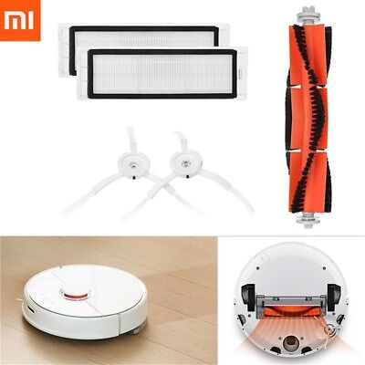 Original XIAOMI MI Robot Vacuum Main Brush Filters Side Brushes Accessories New