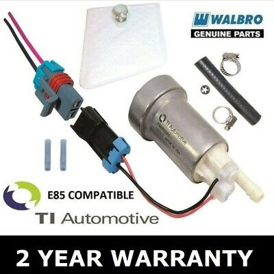 Genuine Walbro 530 Lph High Performance Fuel Pump + Install Kit F90000285 E85