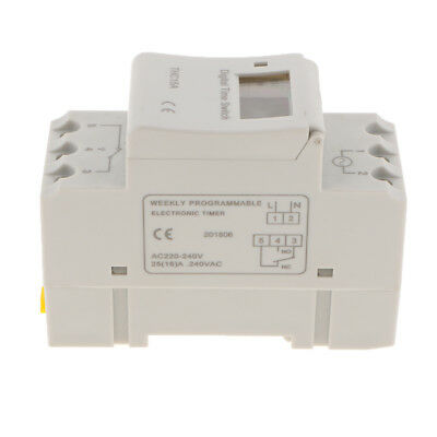 Digital LCD Power Timer Programmable Time Switch Relay Din Rail AC220-240V