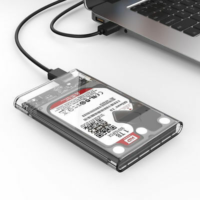 "ORICO 2.5"" Transparent SATA USB 3.0 5Gbps HDD External Hard Drive Enclosure Case"