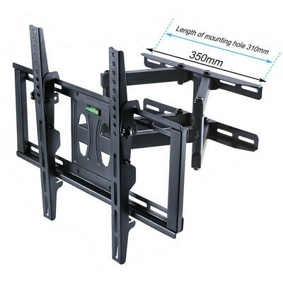 "Tilt & Swivel Cantilever Double Arm TV Wall Mount Bracket  26-55"" LCD LED Plasma"