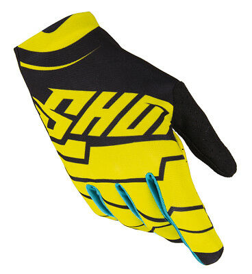 New Shot Skin Yellow Black Kids Youth Mx Motocross Quad Bike Race Gloves