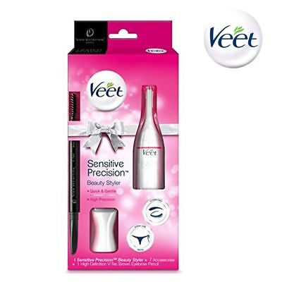 Veet Sensitive Precision Trimmer Beauty Styler Gift Pack with HD Eyebrow Pencil
