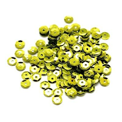 Packet 30g Lime Green Acrylic 6-7mm Cupped Sequins (Loose) Y12900