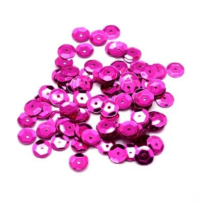 Packet 30g Fuchsia Acrylic 6-7mm Cupped Sequins (Loose) Y13135