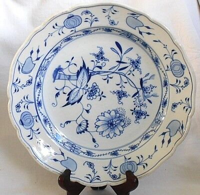 C20Th Meissen Blue And White Onion Pattern Plate