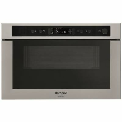 HOTPOINT MH 400 IX - Micro-ondes combiné encastrable inox anti-trace - 22L - 750