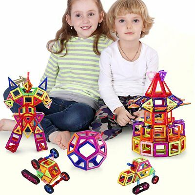 Magnetic Building Blocks 3D DIY Building Tiles Construction Playboards 98 pcs BA