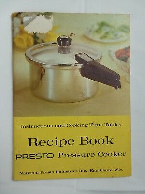 Vintage Antique 1966 Presto Pressure Cooker Instruction Manual And Recipe Book
