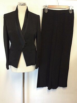 Brand New Marks & Spencer Autograph Black Tuxedo Trouser Suit Size 8/10