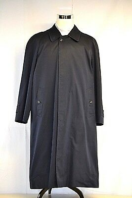 Burberrys of London Navy Blue Trench Coat w/Removable Plaid Wool Lining Sz 42R