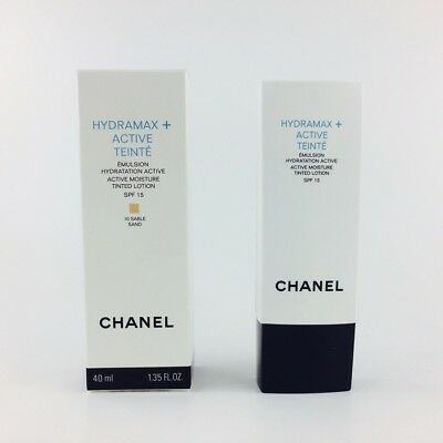Chanel Hydramax Plus Active Teinte Tinted Lotion SPF15 10 Sable Sand 40ml Nuevo