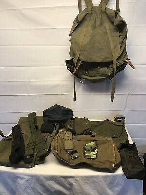 Vintage Military Style Back Pack Lot With Repro Web Gear Cheap !