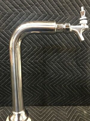 Single Faucet Cobra Draft Beer Tower Chrome Glycol Cooled Remote System