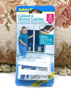 Set Of 8 Safety 1St Baby Proof Locks Child Safety Cabinet & Drawer Latches