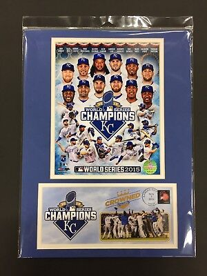 Kansas City Royals 2015 World Series Champions 12X16 Matted Photo & Event Cover