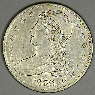 1838 Bust Half Dollar - Nice Au About Uncirculated Priced Right!