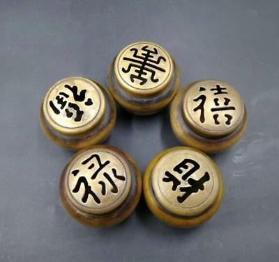 China pure brass mini copper incense burner Furnishing articles