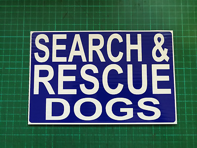 SEARCH & RESCUE Dogs  ON CALL DASHCARD EMERGENCY CALL OUT HM COASTGUARD 4X4