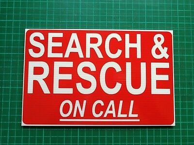 Search & Rescue On Call Dashcard Emergency Call Out Hm Coastguard 4X4
