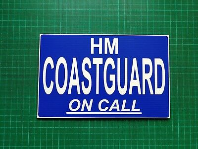 Hm Coastguard On Call Dashcard Emergency Call Out Search & Rescue 4X4