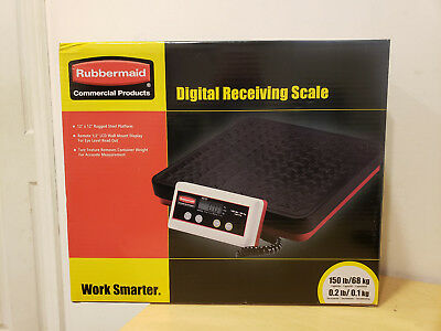 Rubbermaid FG401088 150 Lb. Commercial Kitchen Equipment Digital Receiving Scale