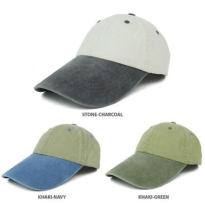 4 Inch Long Bill Pigment Dyed Washed Cotton Baseball Cap - FREE SHIPPING