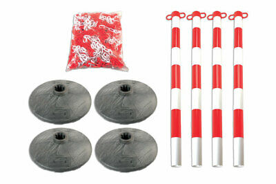 Laser Tools 6700 Set of 4 Posts & Bases with Chain