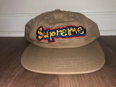 2bcb09ae SUPREME GONZ LOGO 6 Panel Hat Red CONFIRMED SS18 - $70.00 | PicClick
