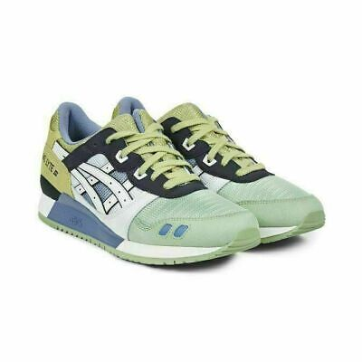 ASICS GEL LYTE III White Green Lace Up Mens Leather Trainers