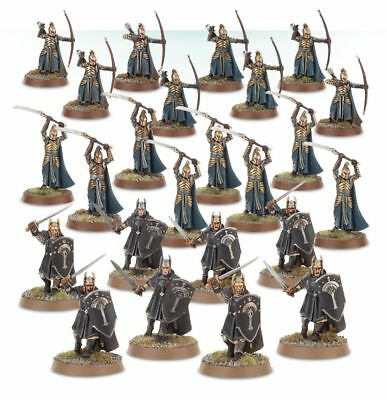 Warhammer Warriors of the Last Alliance The Lord of the Rings plastic new
