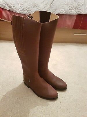 Rectiligne Brown Leather Riding Boots XW Calf Size UK 7 New