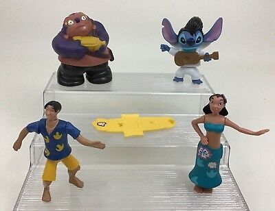 "Lilo & Stitch Lot 5pc Character Bobblehead 4"" Figure Toys Disney McDonald's"