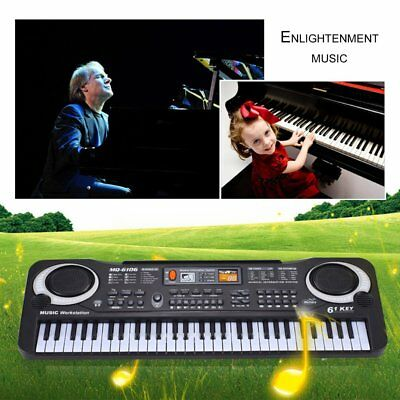 61 Keys Electronic Piano Keyboard With Microphone Children Musical Instrument QM